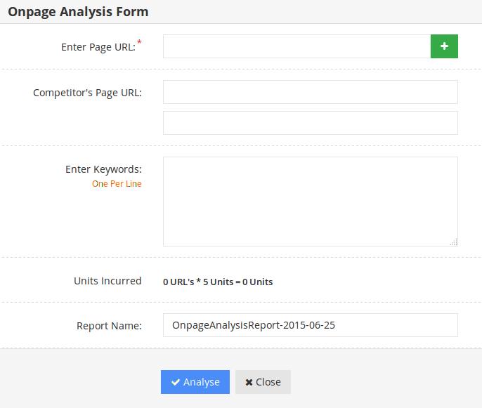 On-page-analyzer-form