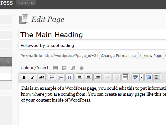 Blog Subheading