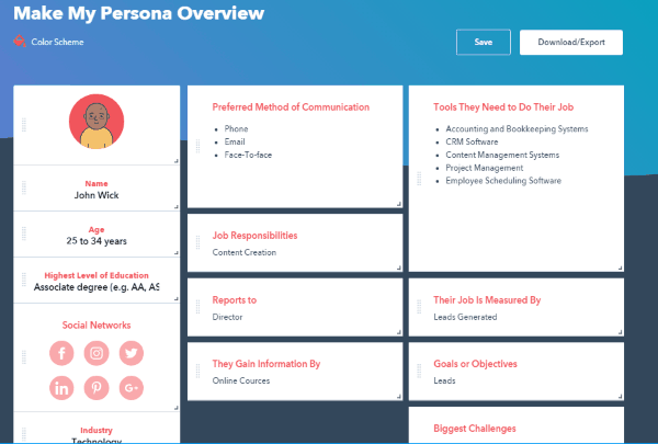 Persona Tool
