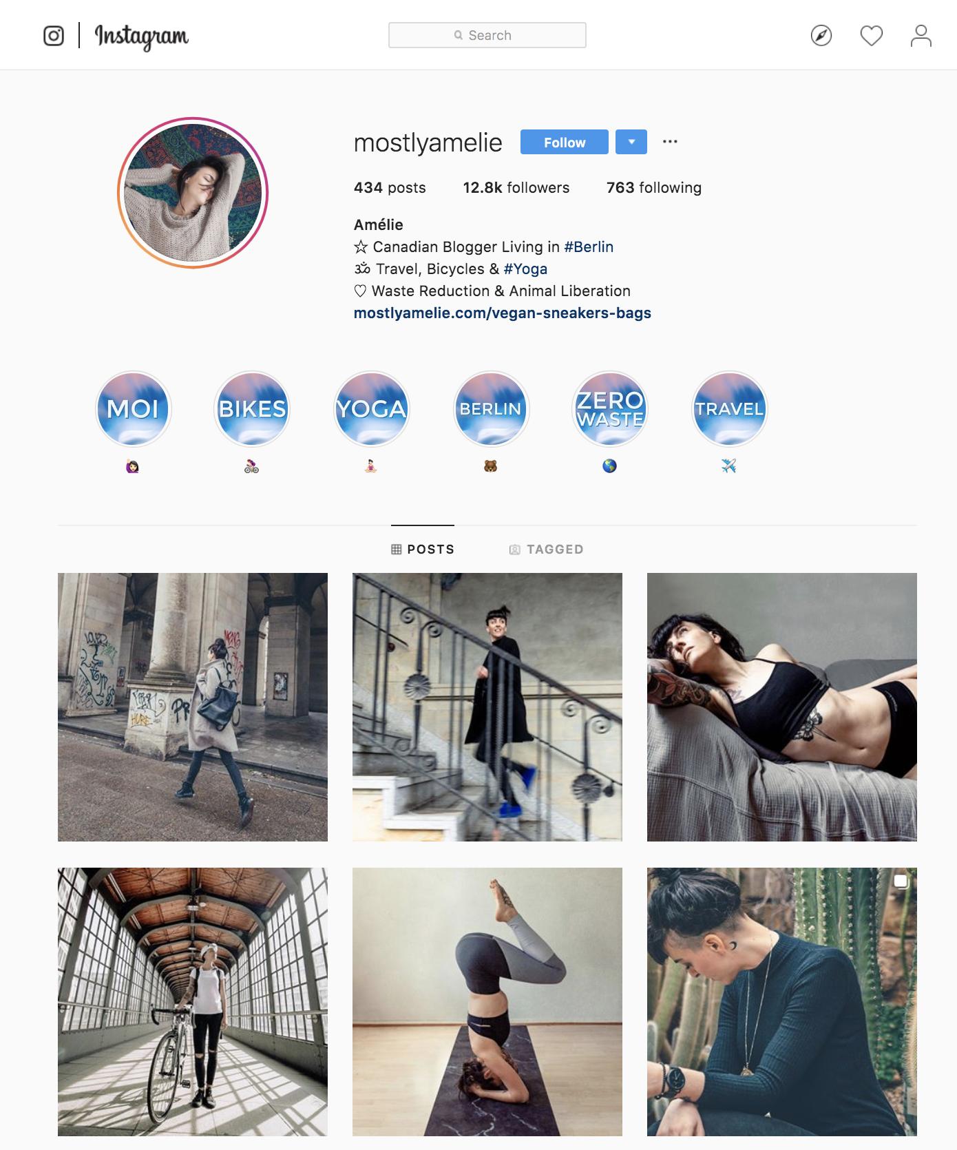 Instagram Mostlyamelie