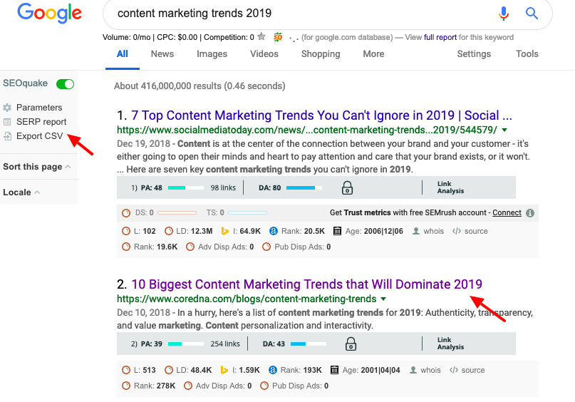 Competitor Links