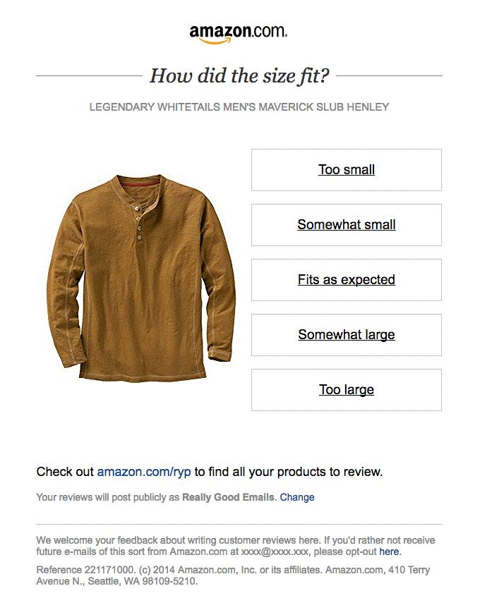 Amazon Feedback Email