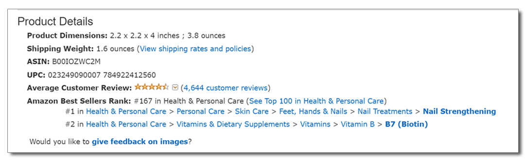 Amazon Product Details