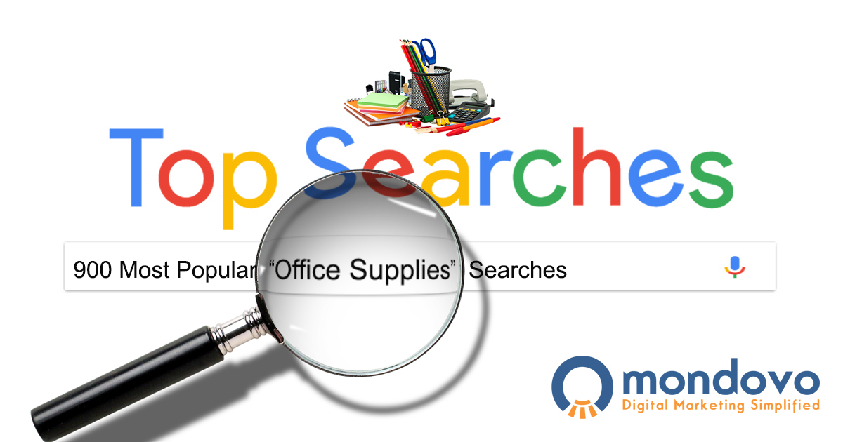 Bon The Most Searched Office Supplies Keywords In Google | Mondovo