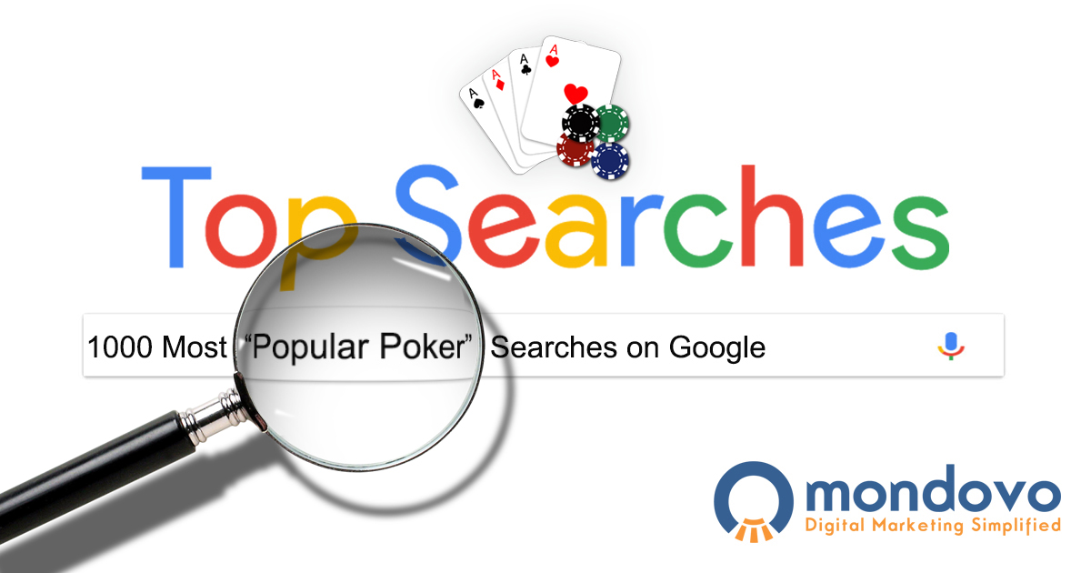 The Most Searched Poker Keywords In Google Mondovo