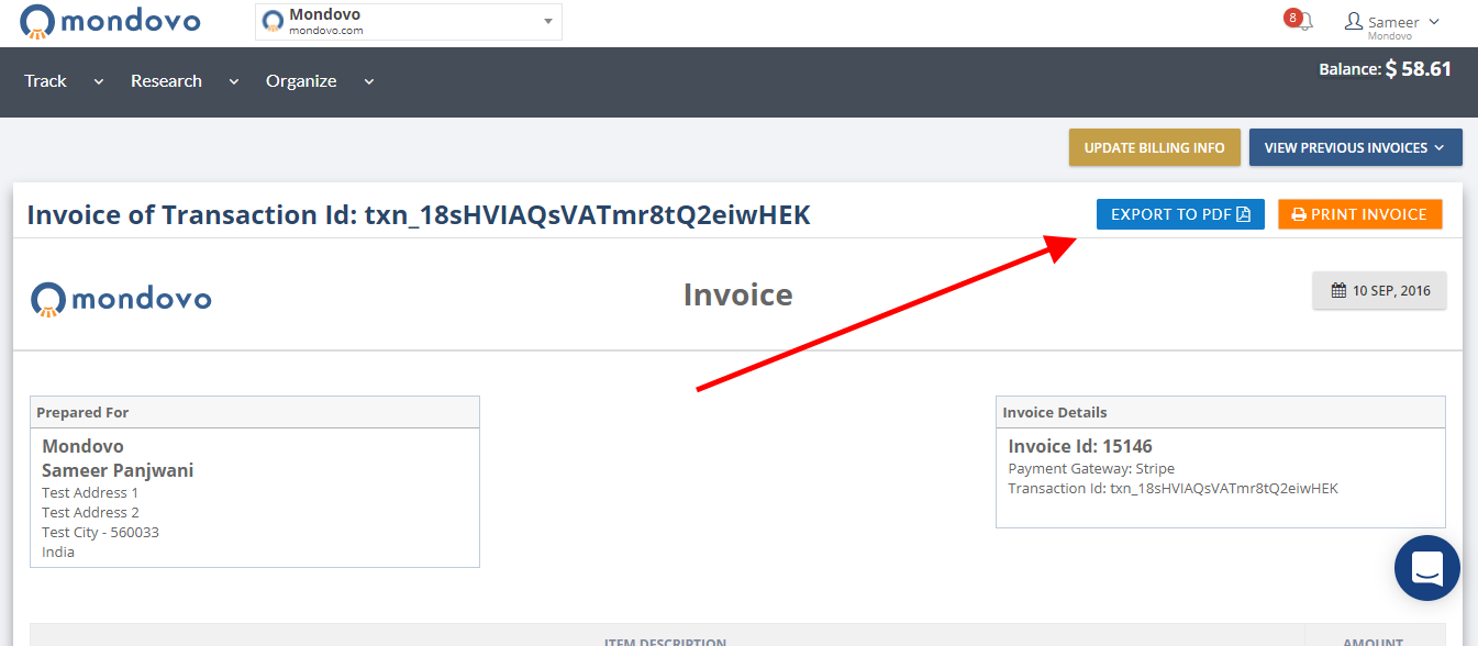 how to view print and export your transaction invoice s