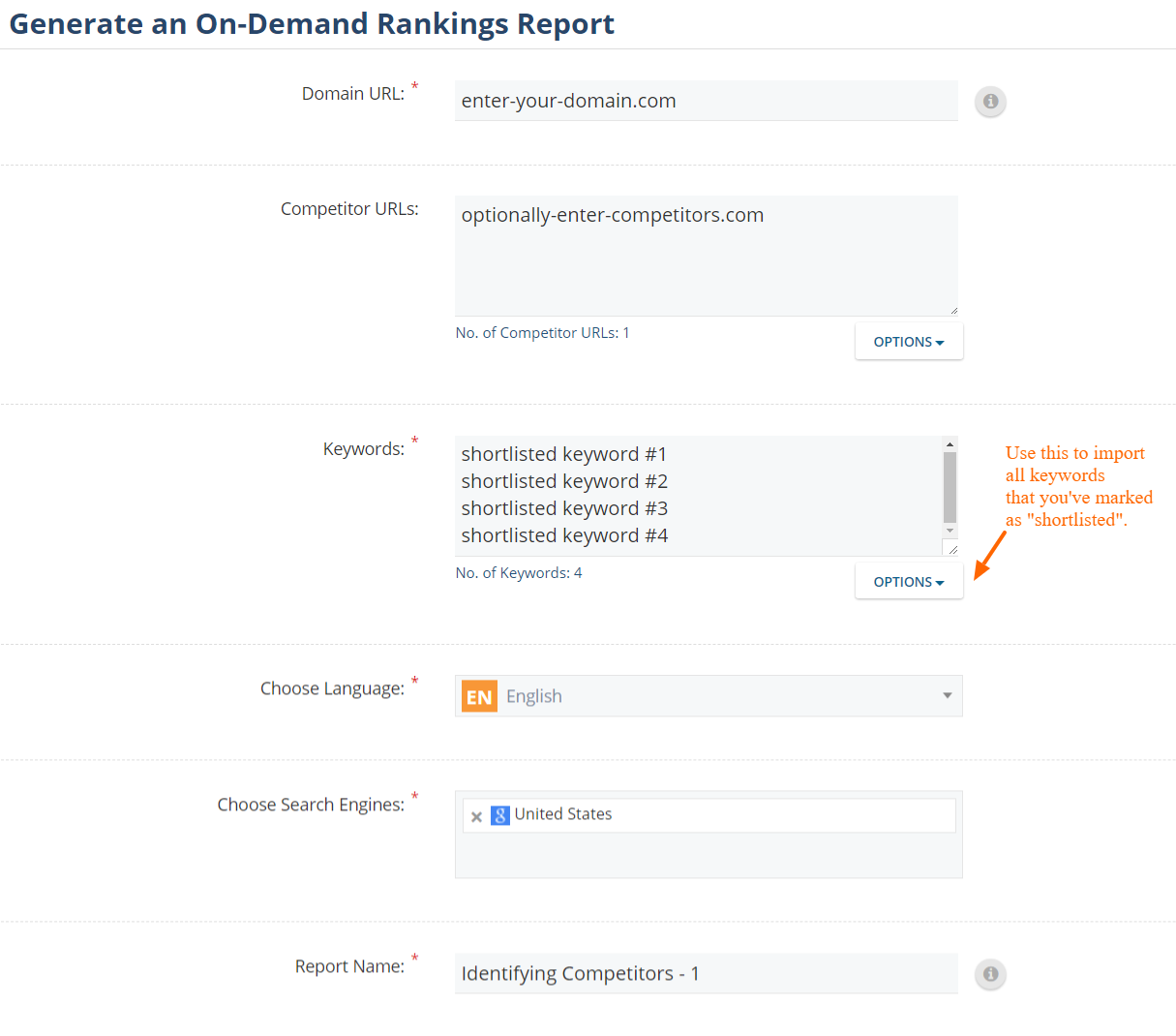 Generate an On-Demand Rankings Report