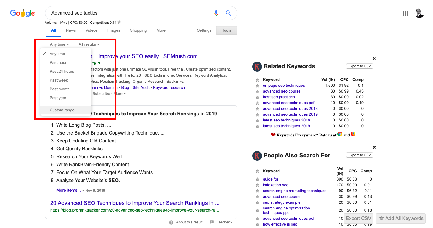 How to find the date Google associates with any URL