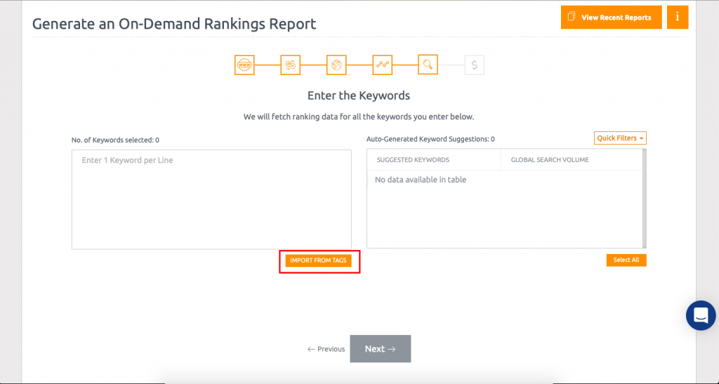On-Demand Rank Check Form Setup